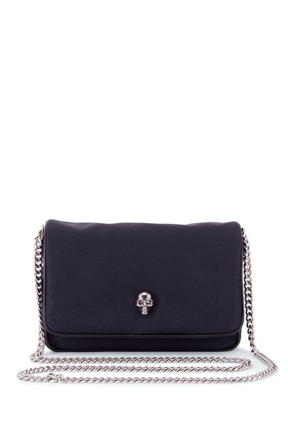 Alexander McQueen Black Nylon Small Skull Chain Bag