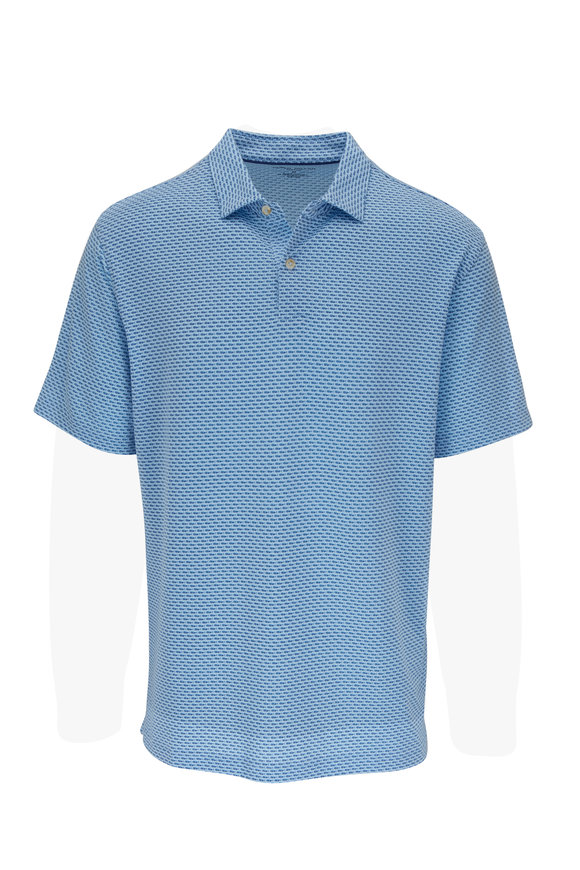 Peter Millar Drirelease® Blue Mahi Print Polo