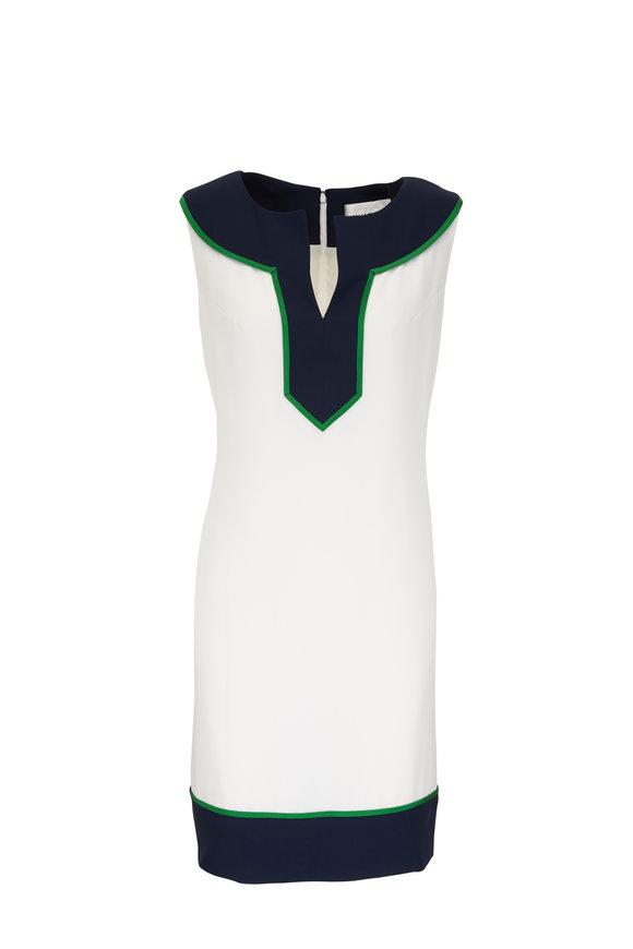 Donald Deal White Sleeveless Chemise Dress