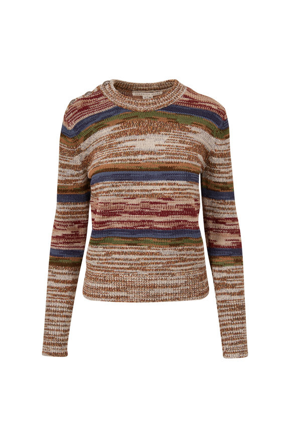 Veronica Beard Sohani Multi Stripe Knit Sweater