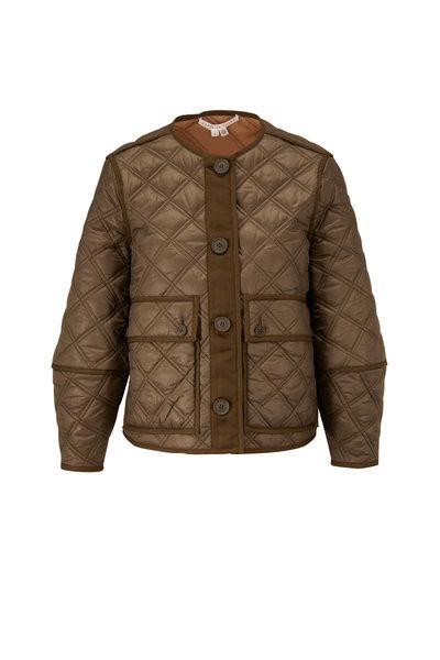 Veronica Beard - Marika Army Green Reversible Quilted Jacket