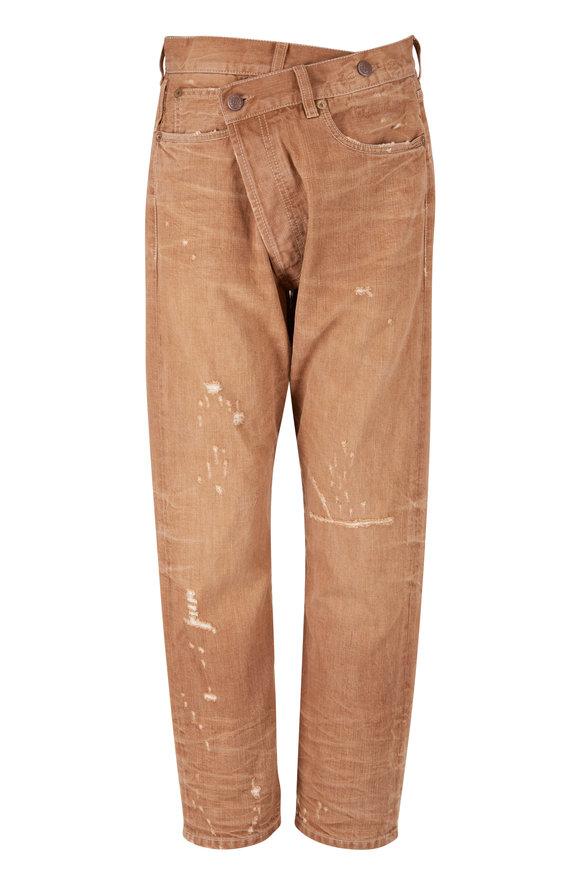 R13 Crossover Kalan Khaki Five Pocket Jean