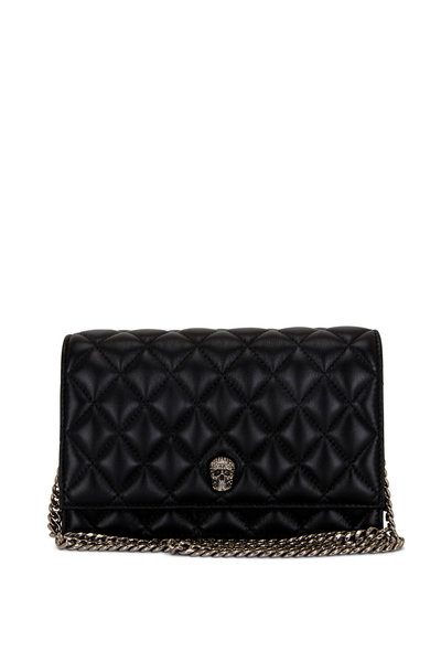 Alexander McQueen - Small Skull Black Quilted Leather Chain Bag