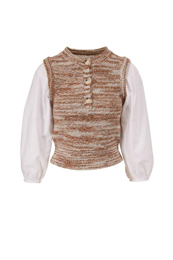 Veronica Beard Tahlea Mixed-Media Sweater
