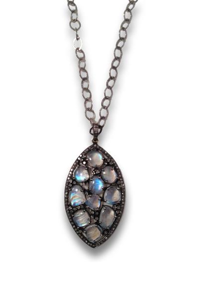 Loriann - Sterling Silver Moonstone Pendant