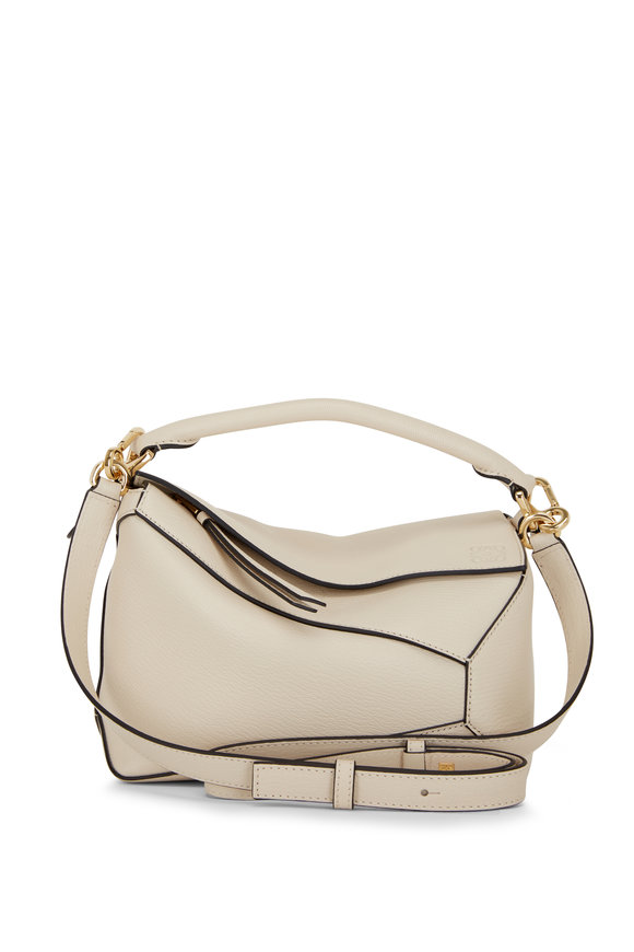 Puzzle Angora Leather Small Top Handle Bag