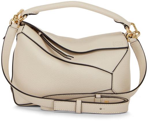 Loewe Puzzle Angora Leather Small Top Handle Bag