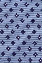Ermenegildo Zegna - Light Blue Geometric Silk Necktie