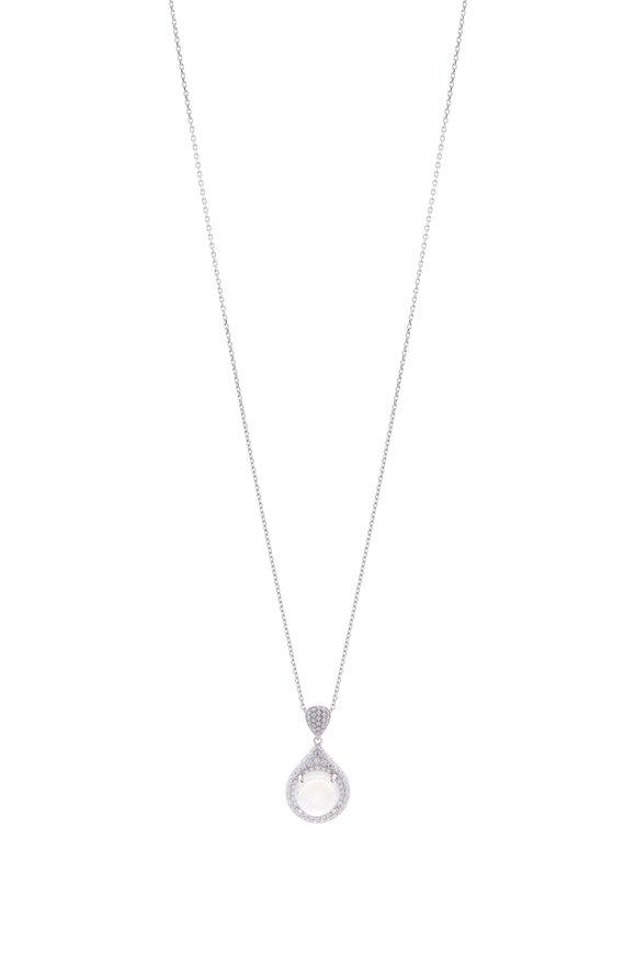 Cairo Moonstone & Diamond Pendant Necklace