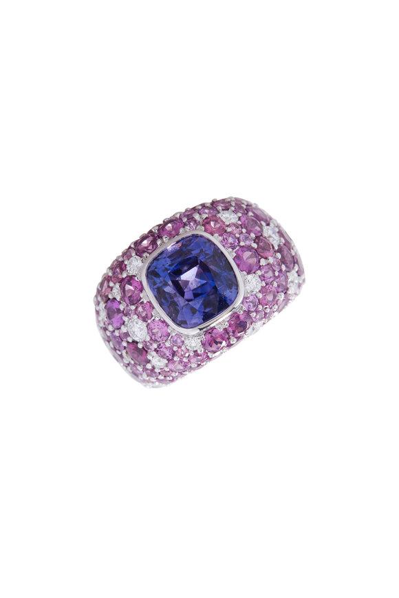 Cairo Violet Sapphire & Garnet Ring