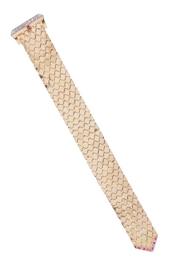 Cairo Rose Gold Retro Buckle Bracelet