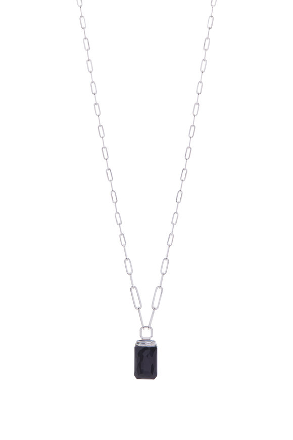 Stephen Webster White Gold Tablet Twister Pendant Necklace