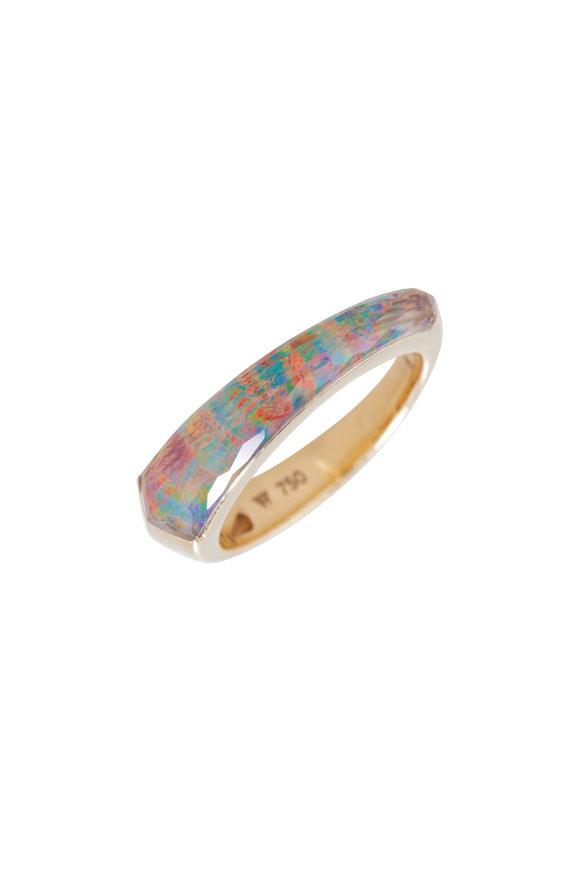 Stephen Webster Yellow Gold Fire Opal & Clear Quartz Ring