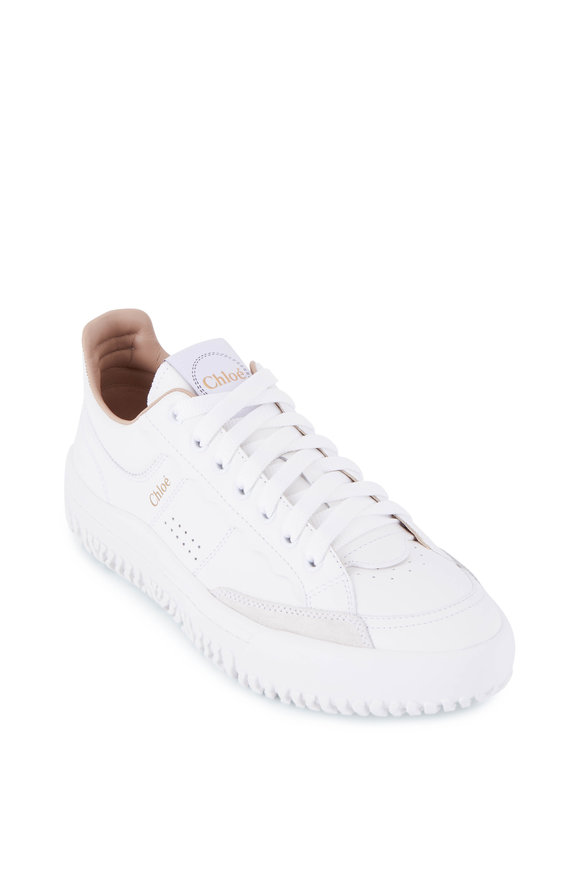 Chloé Franckie White Leather Low Top Sneaker