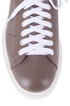 Gravati - Olive Deerskin Leather Low Top Sneaker