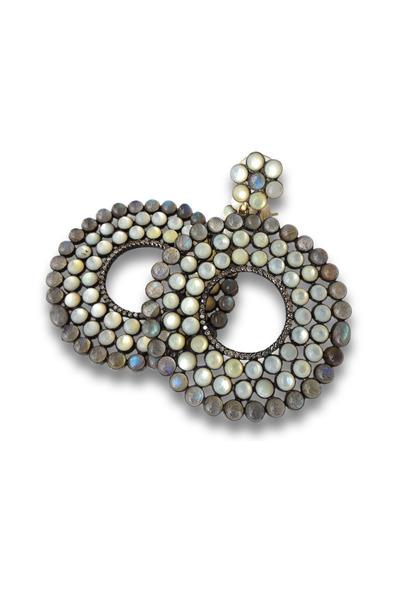 Loriann - Mother Of Pearl Moonstone City Light Earrings