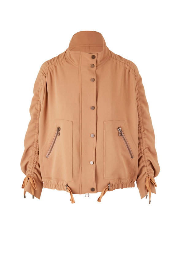 Veronica Beard Paros Safari Ruched Sleeve Jacket