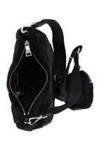 Prada - Black Patchwork Shearling Pouch Shoulder Bag