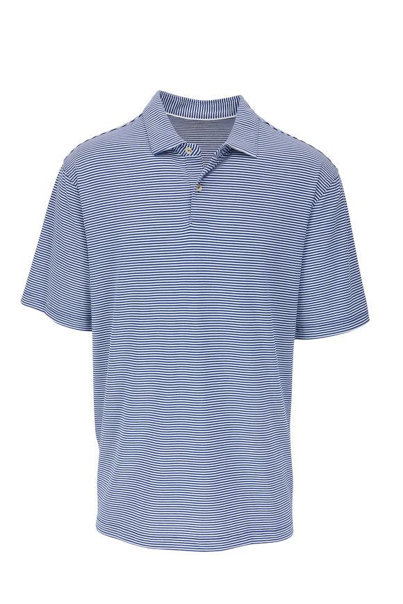 Peter Millar Drirelease® Blue Stripe Polo