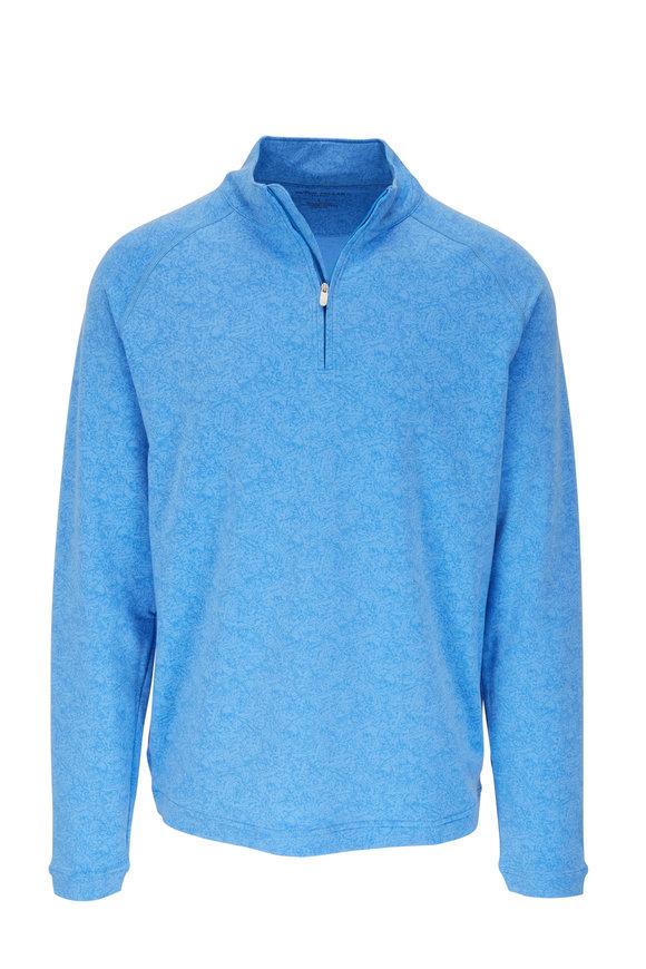Peter Millar Drirelease® Blue Print Quarter-Zip Pullover