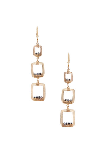 Dana Kellin - Yellow Gold Black Diamond Earrings