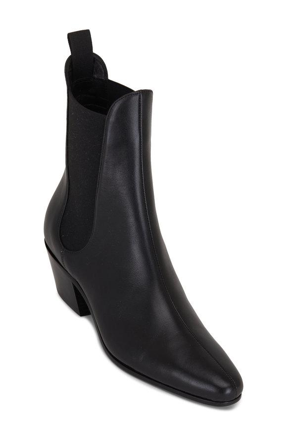 Khaite Saratoga Black Leather Chelsea Boot, 40mm