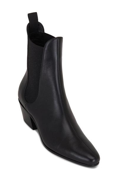 Khaite - Saratoga Black Leather Chelsea Boot, 40mm