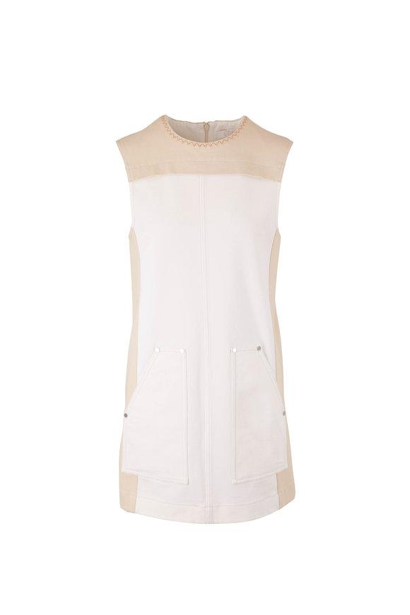 Chloé Iconic Milk Sleeveless Denim Shift Dress