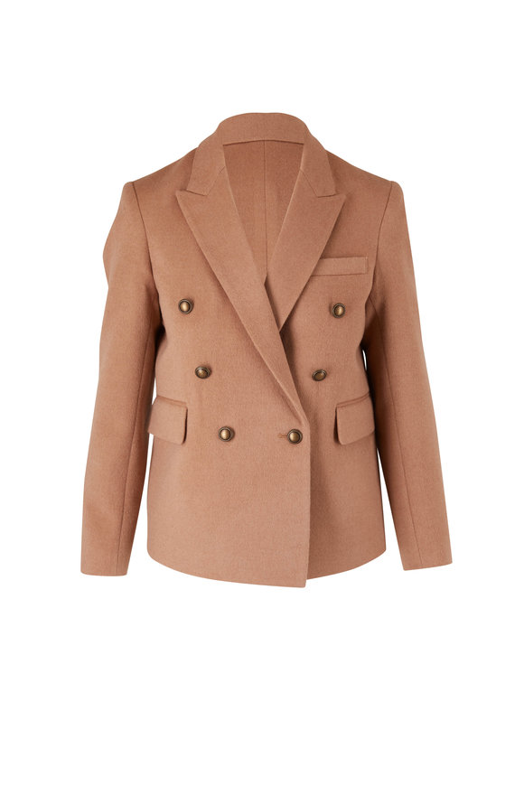 Nili Lotan Henry Camel Double-Breasted Jacket