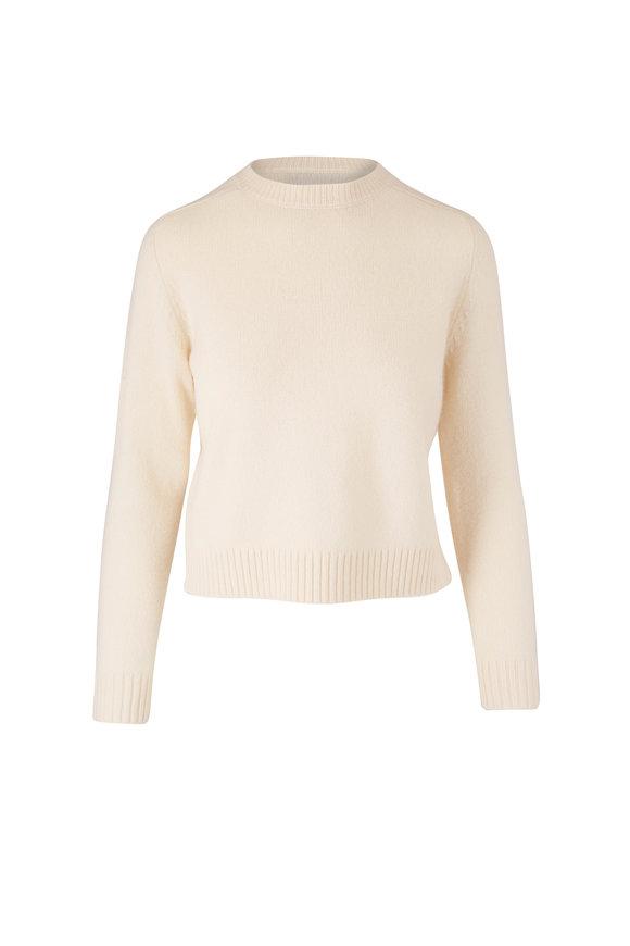 Nili Lotan Sirena Ivory Wool Crewneck Sweater