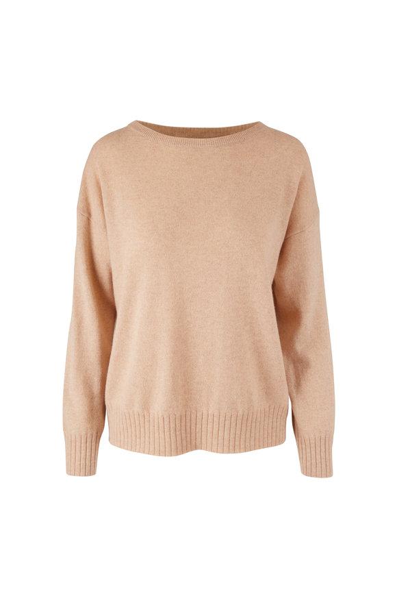 Nili Lotan Oatmeal Cashmere Boyfriend Sweater