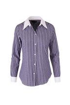Nili Lotan - Hailey Navy & White Stripe Button Down