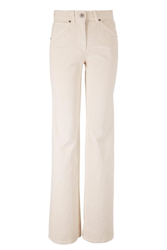 Nili Lotan Celia Winter White Corduroy Five Pocket Pant