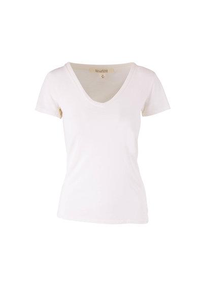 Nili Lotan - Carol Ivory V-Neck T-Shirt
