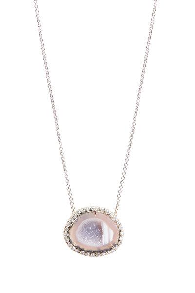 Kimberly McDonald - Geode & Diamond Pendant Necklace