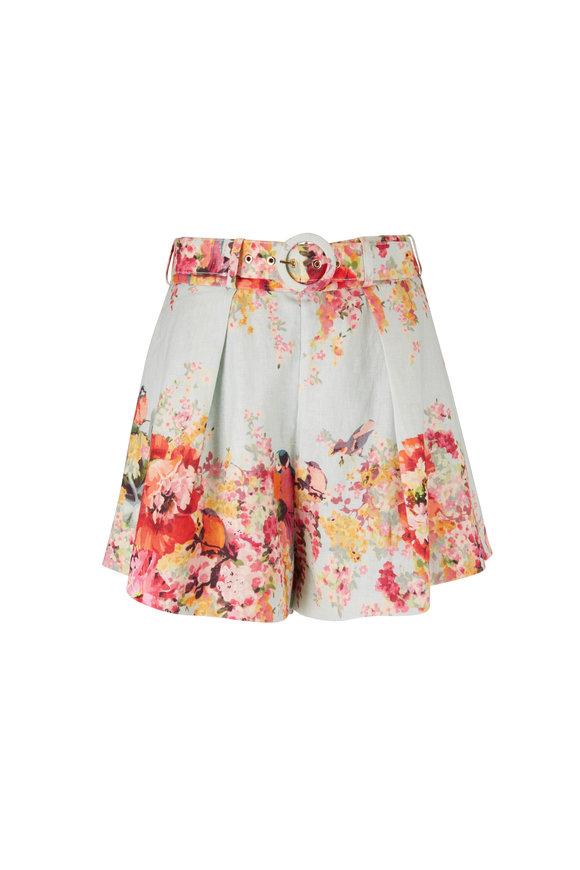 Mae Floral Belted Tuck Short
