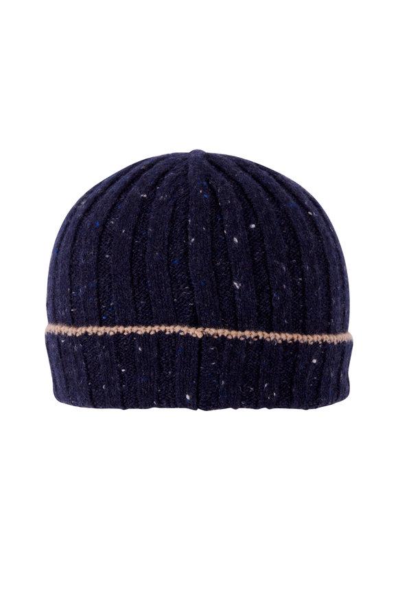 Brunello Cucinelli Donegal Navy & Tan Hat