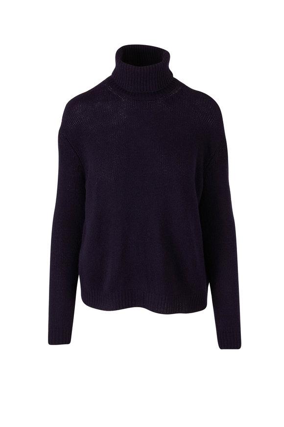 Valentino Navy Cashmere Turtleneck Sweater
