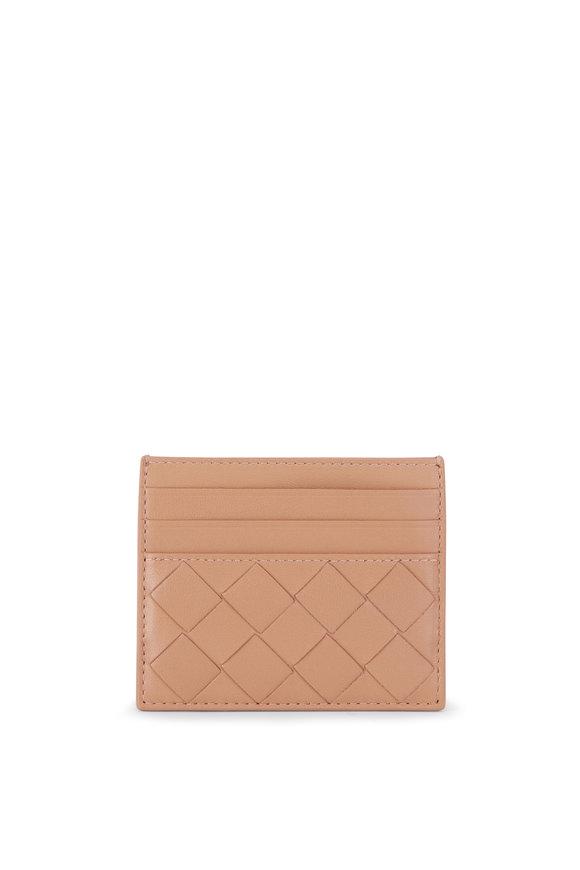 Bottega Veneta Cipria Woven Leather Card Case
