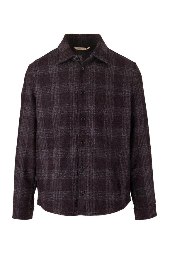 Maurizio Baldassari Charcoal Plaid Wool & Alpaca Overshirt