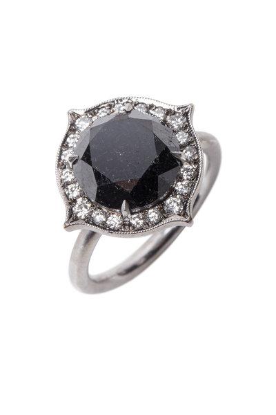Sylva & Cie - White Gold Black & White Diamond Ring