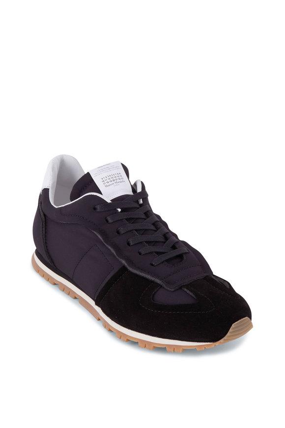 Maison Margiela Trainer Black Nylon & Suede Sneaker