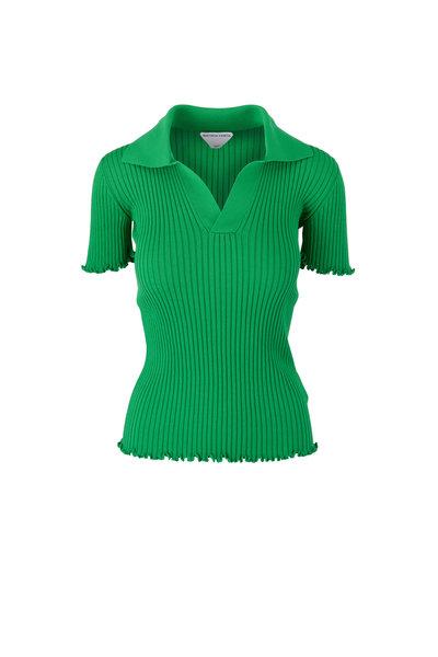 Bottega Veneta - Green Lightweight Cotton Ribbed Sweater