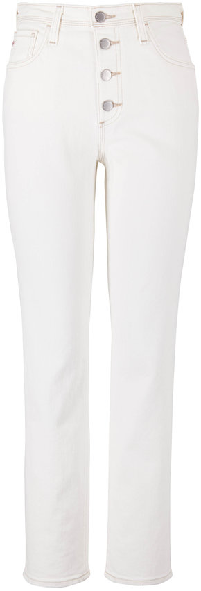 AG Isabelle Moderne White Button-Up High-Rise Jean