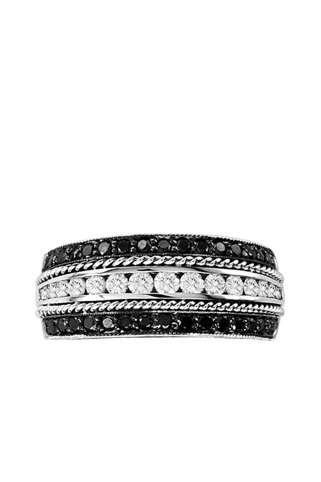 Black Diamond Channel-Set Ring