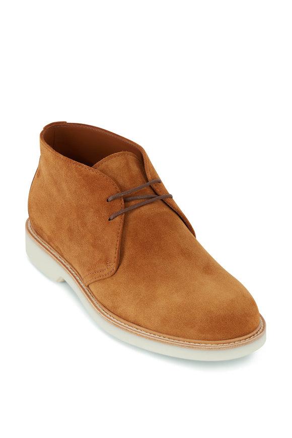 Brunello Cucinelli Desert Suede Contrast Sole Low Boot