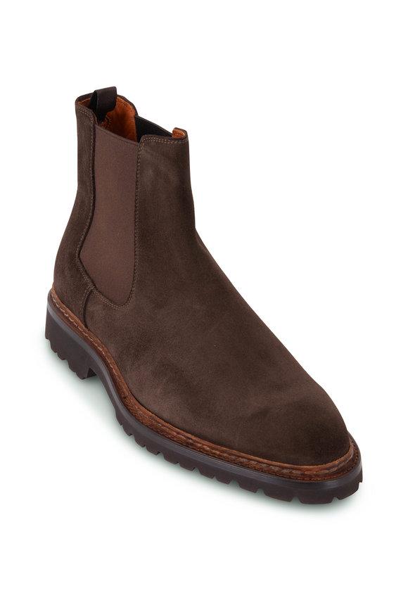 Bontoni Cavaliere Chocolate Suede Lug Sole Boot