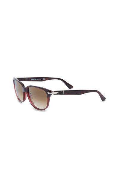 Persol - PO3104S Red Havana Brown Gradient Sunglasses