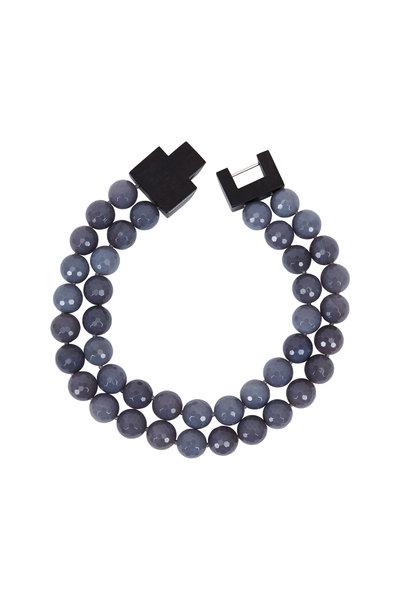 Patricia von Musulin - Ebony Gray Agate Double Strand Necklace