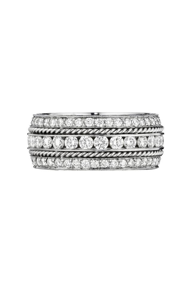 White Gold White Diamond Ring